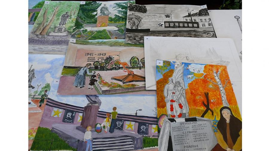 Детские рисунки, посвященные 75–летию освобождения области, размещены на сайте Законодательного Собрания