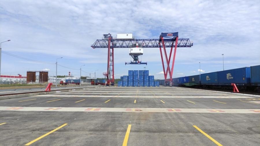 """В логистическом центре """"Ворсино"""" открылся новый контейнерный терминал """"Запад"""""""