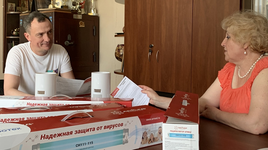 Обнинскому Техлицею подарили четыре рециркулятора для обеззараживания кабинетов, где пройдет ЕГЭ