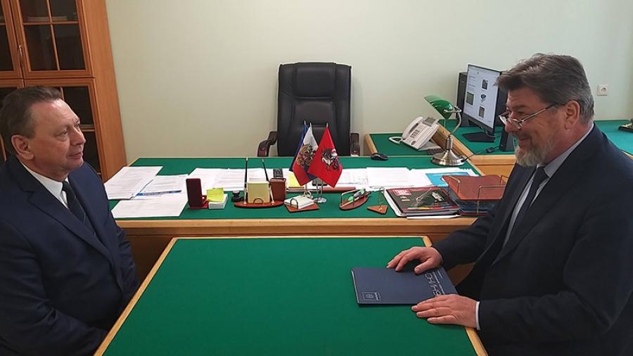 Геннадий Артемьев встретился с председателем Совета директоров Обнинска Валентином Родионовым