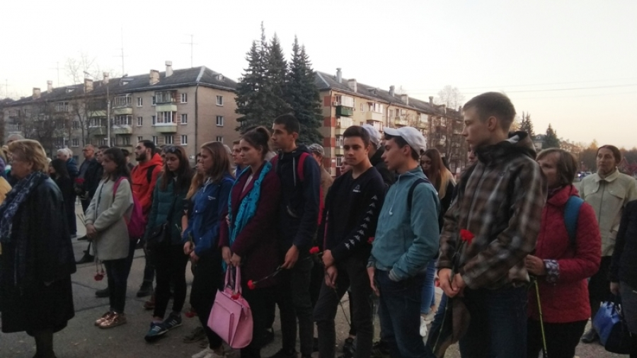 #КерчьМысТобой: обнинцы собрались на траурный митинг