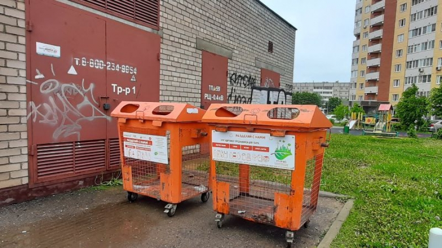 В Обнинске установили 18 новых контейнеров для раздельного сбора мусора