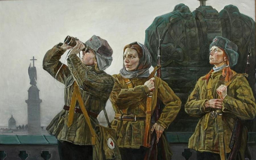 Впервые накануне Дня Победы в обнинском музее открылась выставка военных полотен