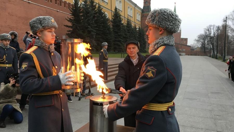 В Обнинск везут Вечный огонь