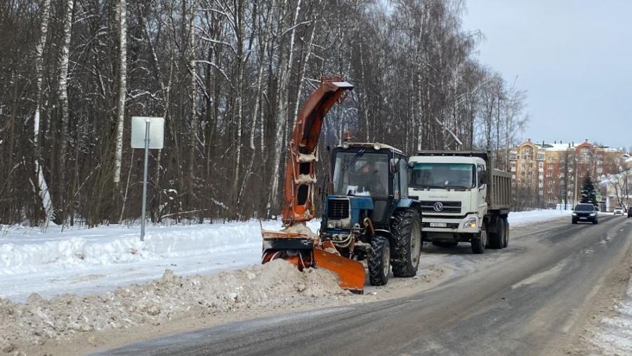 За праздники с улиц Обнинска вывезли более 1,5 тысячи кубометров снега