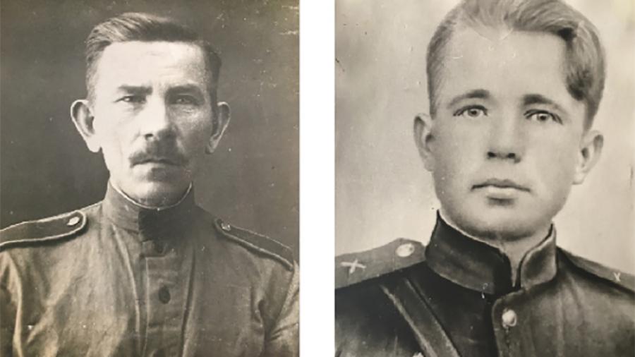 Герои из села Кривошеино