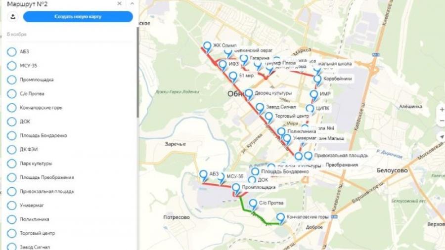За три дня обнинцы предложили больше 30 поправок в новую схему движения общественного транспорта