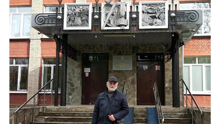 В здании Детской художественной школы Обнинска обновили входную группу