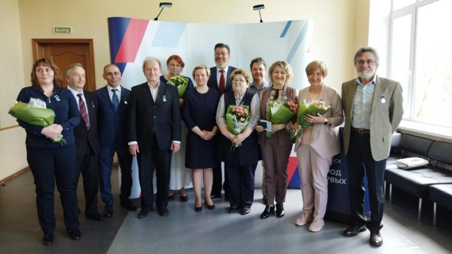 Обнинским журналистам вручили памятные медали в честь 65-летия города