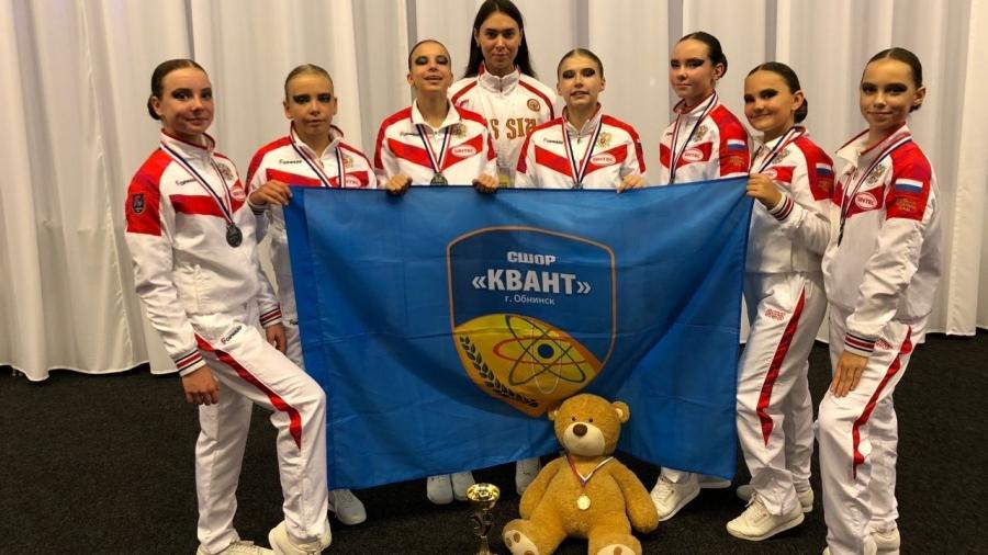 Обнинская команда по фитнес-аэробике взяла серебро на чемпионате мира