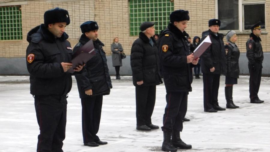 В Обнинске новые полицейские Калужской области принесли присягу