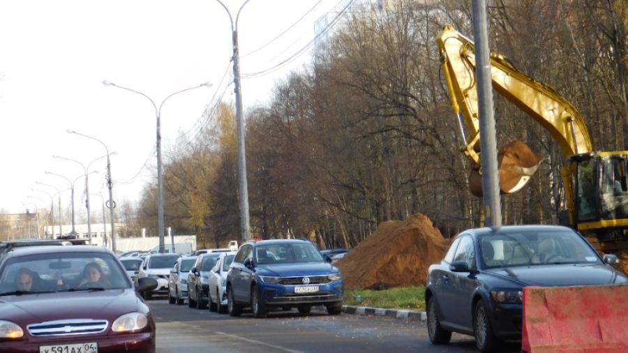 В Обнинске строят парковку рядом с МРНЦ