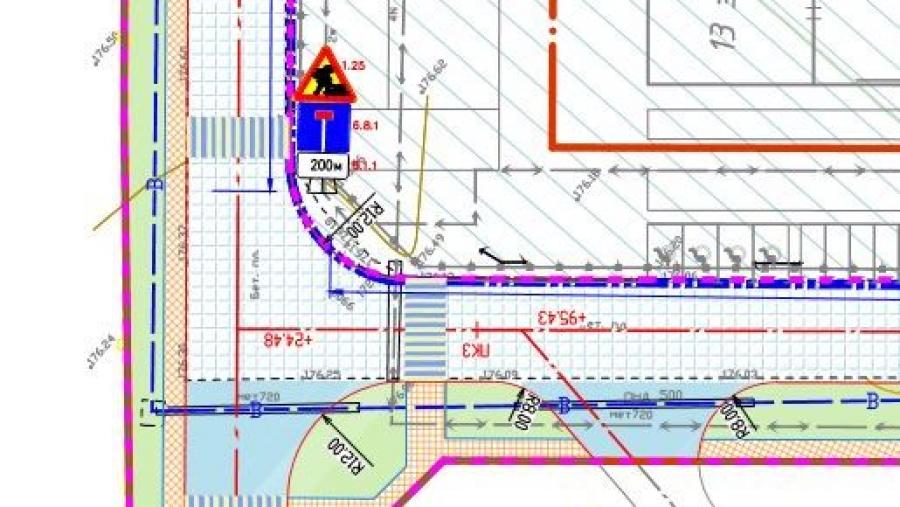 В связи с ремонтом ул. Усачева в микрорайоне действует временная схема движения