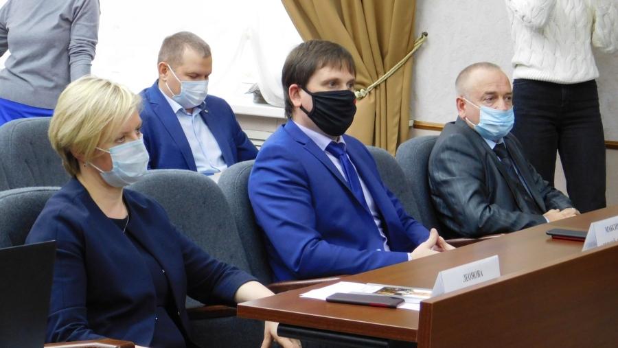 Объявление результатов голосования на должность главы администрации Обнинска