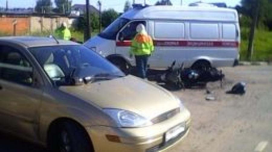 Недалеко от Обнинска в ДТП пострадал мотоциклист