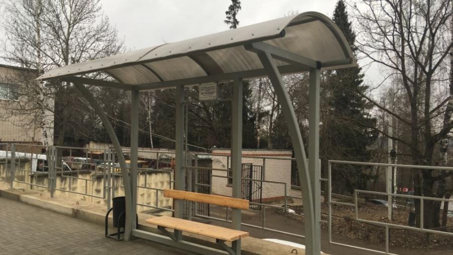 На Пяткинском проезде оборудовали автобусную остановку