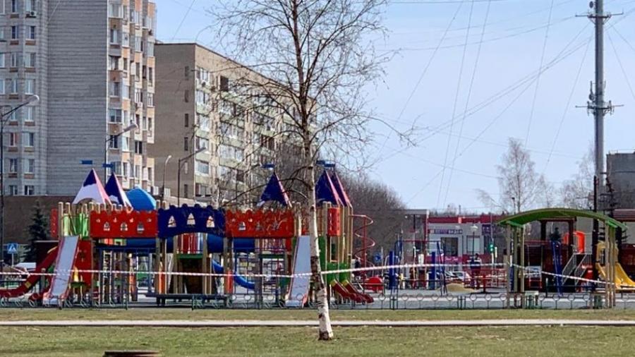 В Обнинске детские площадки закрывают от посещения детьми