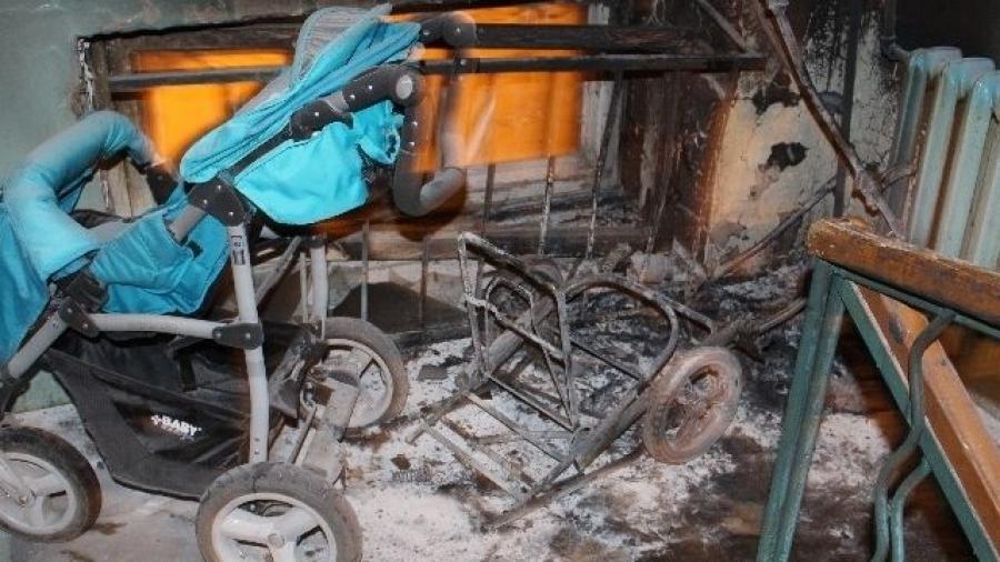 Недалеко от Обнинска вновь подожгли детскую коляску