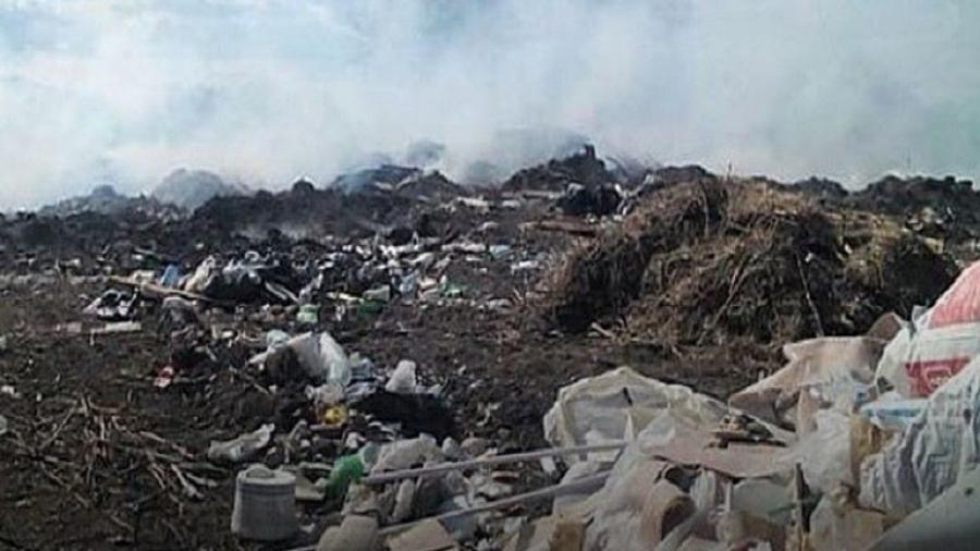 Недалеко от Обнинска горит закрытый три года назад мусорный полигон