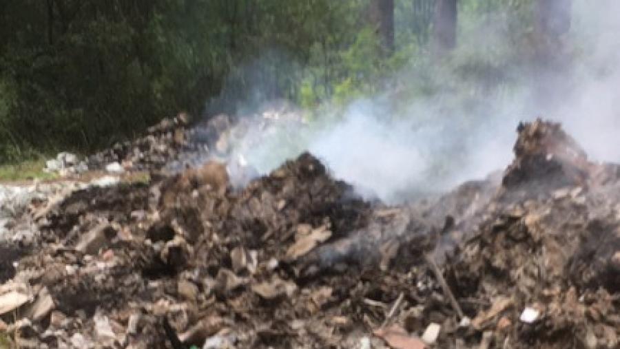 В Калужской области стали чаще гореть полигоны ТБО