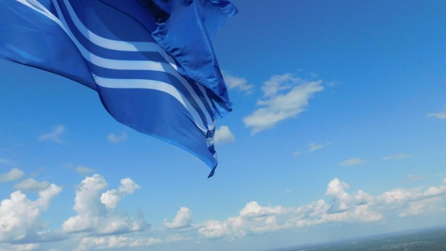 В Обнинске вновь подняли флаг на вершину метеовышки