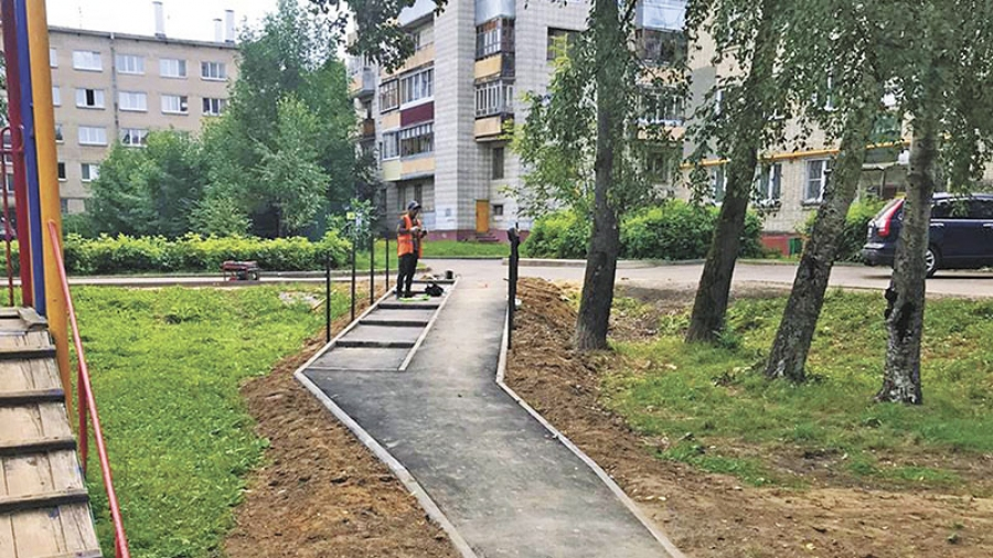 На улице Мира в скором времени появится уютный двор и современная пешеходная зона