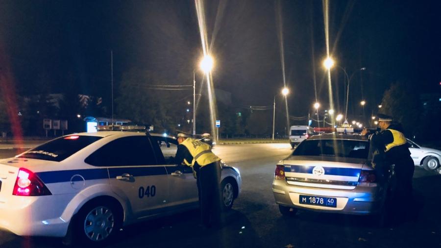 Сегодня ночью в Обнинске пять экипажей ДПС областного ГИБДД ловили стритрейсеров