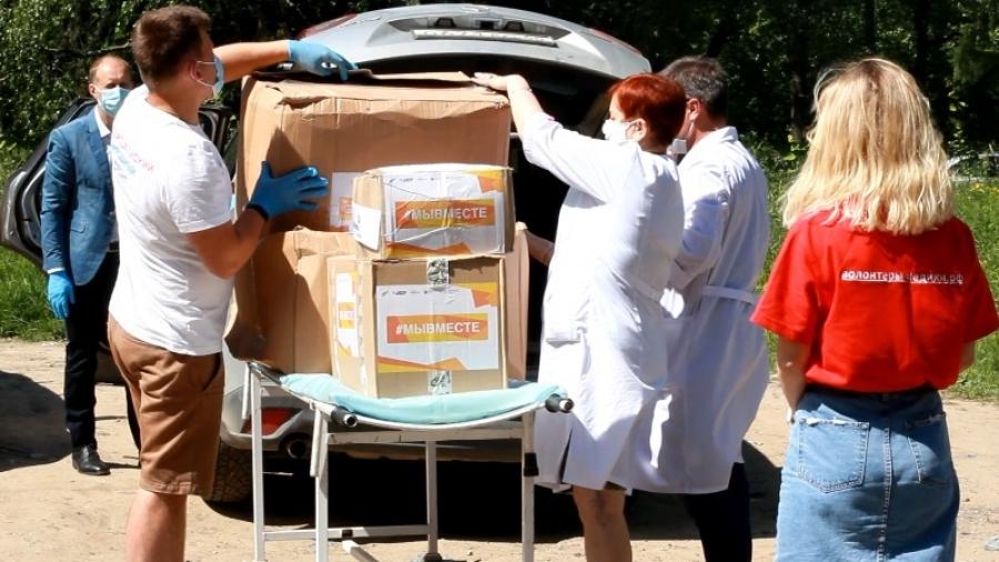 Участники акции #МыВместе передали в КБ №8 средства индивидуальной защиты