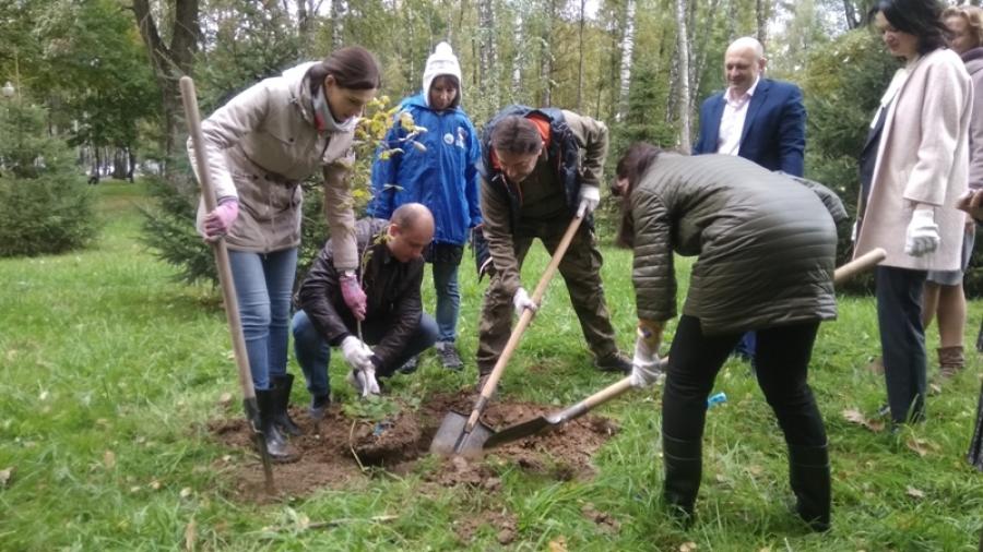 В Обнинске прошла экологическая акция «Посади свое дерево Победы»
