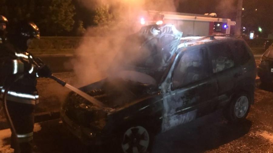В Обнинске ночью сгорел автомобиль