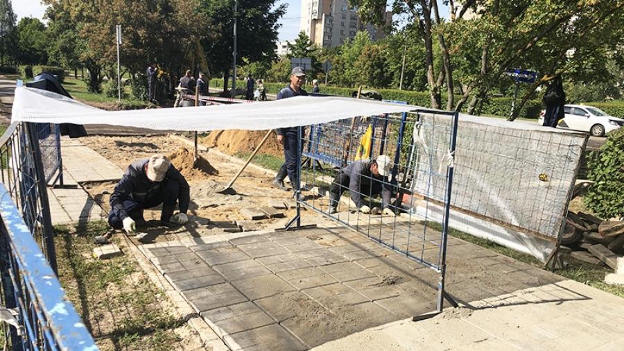 Где хорошо, а где плохо восстанавливают тротуары и газоны после ремонтных работ в Обнинске?