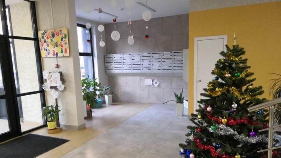 Обнинский дом на Ленина, 223 занял первое место на конкурсе «самых новогодних» подъездов