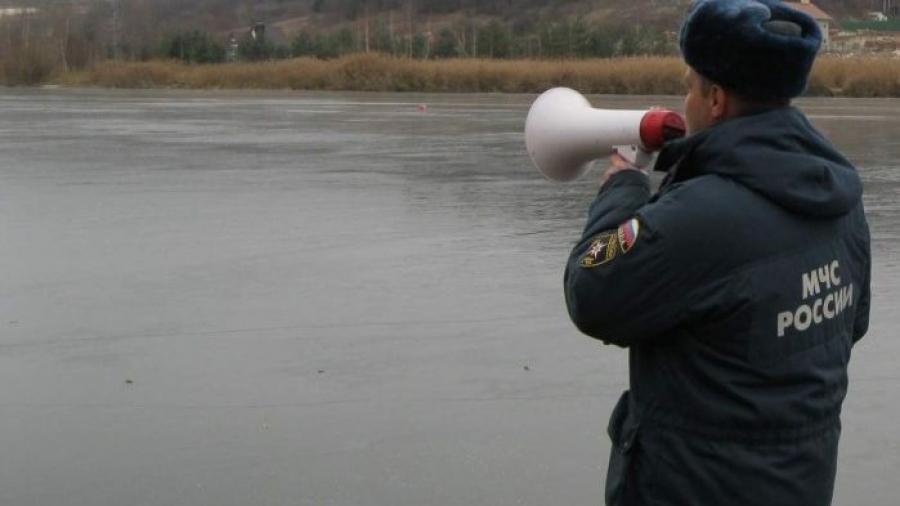 На обнинских прудах очень тонкий лед