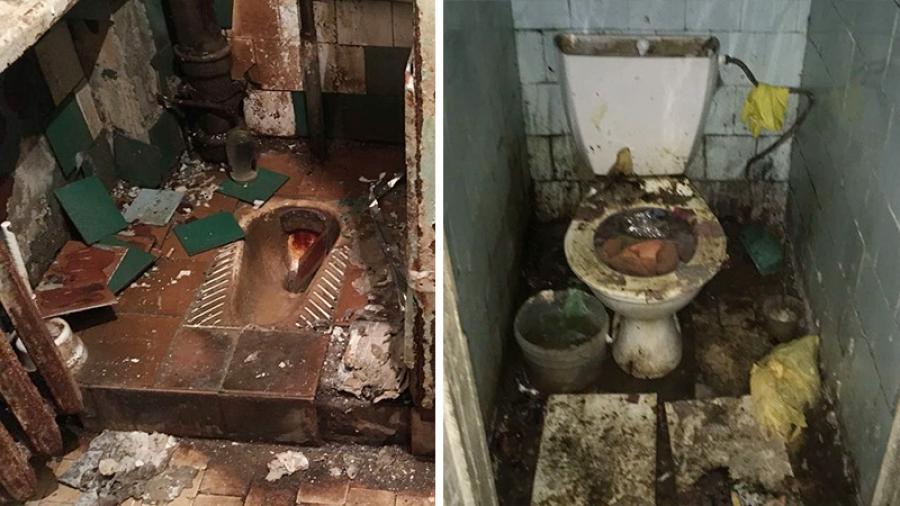 Жители обнинского общежития используют вместо туалета ведра