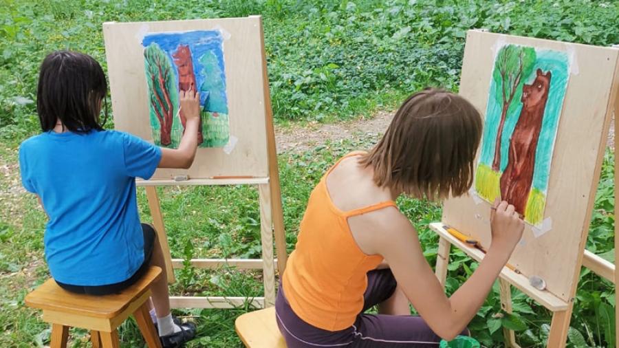 В обнинском центре «Спас» детей учат писать иконы