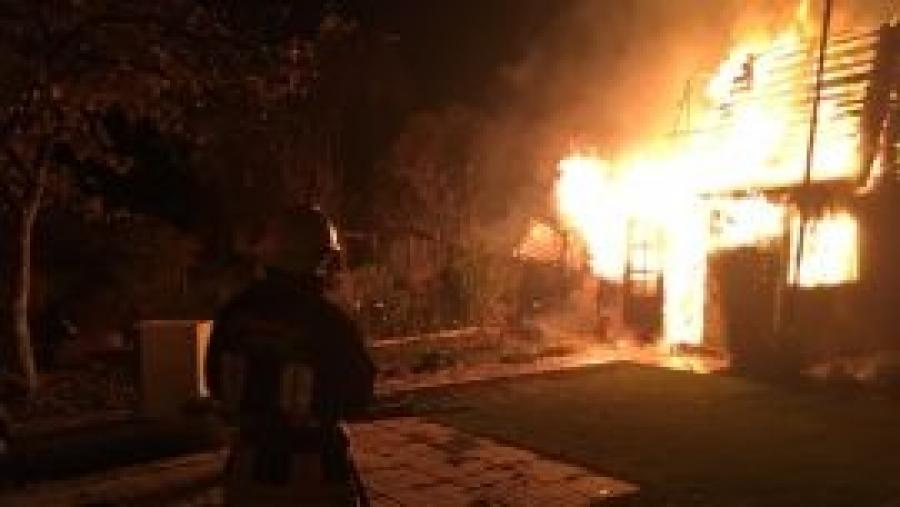 В Жуковском районе сгорел дачный дом