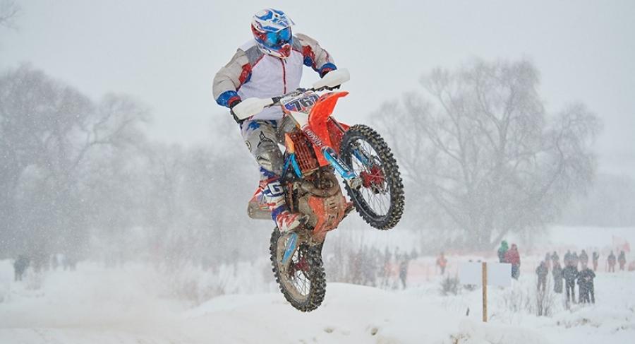 Обнинцы завоевали две золотых медали на зимнем мотокроссе