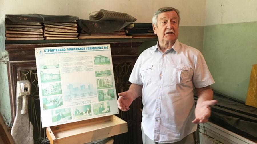 Председатель Совета ветеранов ОУС Николай Подавалов проинспектировал материалы Музея строителей