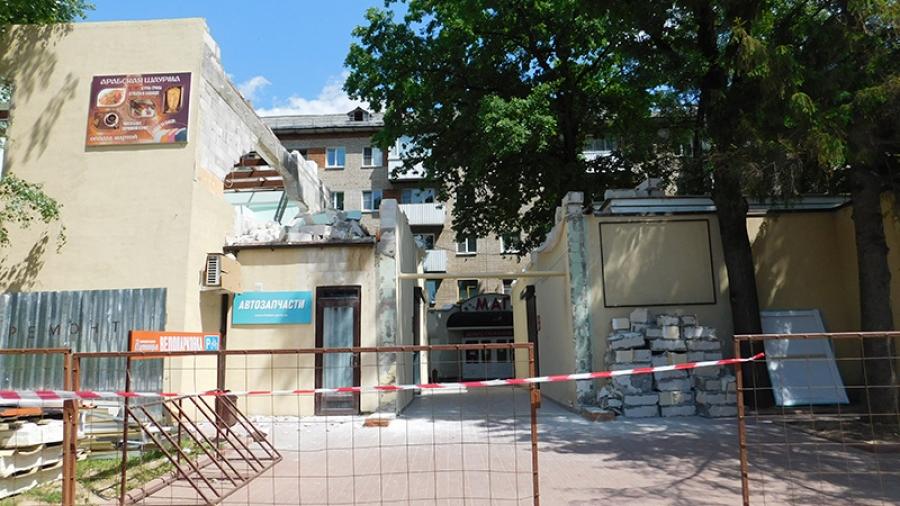Снос самовольной пристройки к магазину «Лукоморье» — начало серьезной борьбы с незаконными постройками