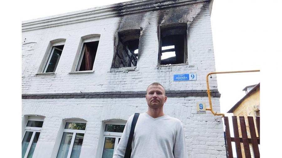Дома в Боровске горят и разрушаются.