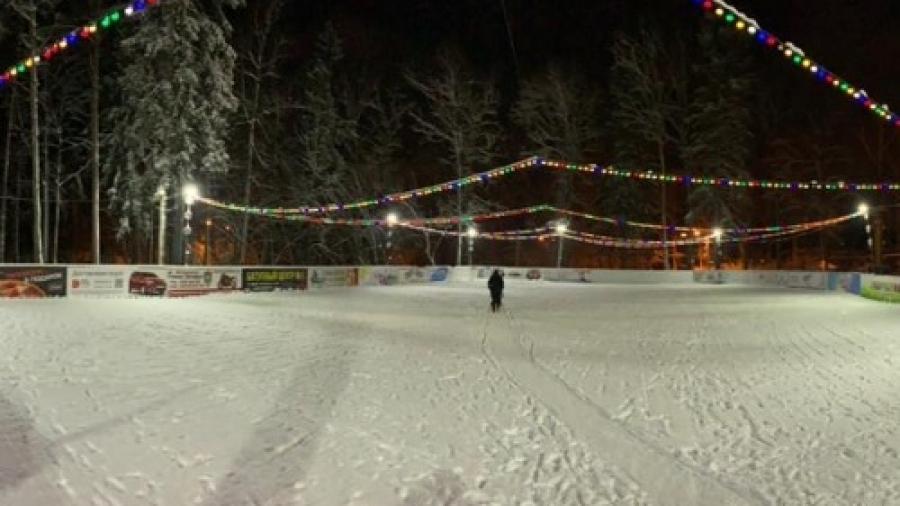 В Обнинске ждут снега, чтобы залить городской каток