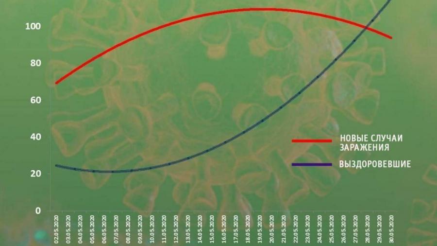Кривая заболеваемости COVID-19 в Калужской области повернула вниз