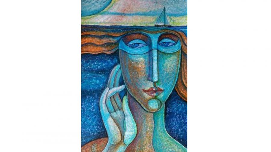 На следующей неделе в Обнинске открывается персональная выставка московской художницы и поэтессы Елены Моргуновой