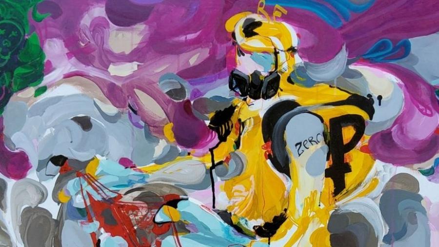 Картину калужского художника про коронавирус продают на он-лайн аукционе