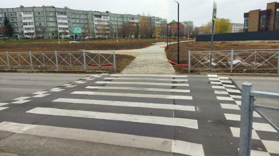 Татьяна Леонова проверила, как реконструированы пешеходные переходы у «Циолковского» и рядом с 17-й школой